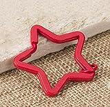 DU lijun Llaveros estrellas de caramelo colorido metal llavero y colgante de llavero color creativo , e