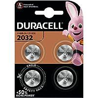 Duracell 2032 Pile bouton lithium 3V, lot de 4, avec Technologie Baby Secure, pour porte-clés, balances et dispositifs…