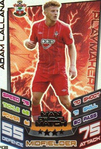 Match Attax 2012/2013 Man of the Match - 438 Southampton ADAM LALLANA