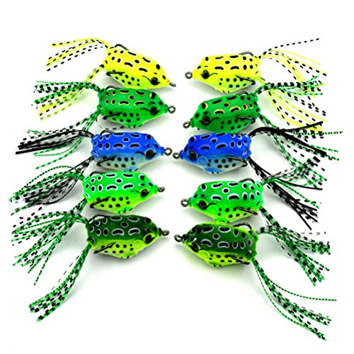 SUPVOX Kunstköder Zum, 5.5cm/8g Artificial Frog Fish Köder mit Haken Angeln Zubehör (Random Color)