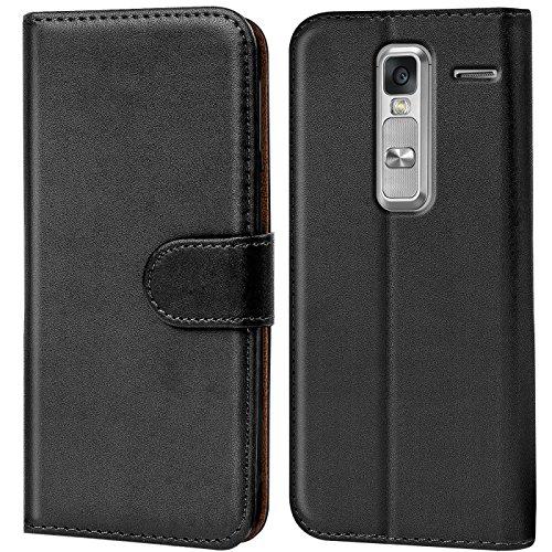 Verco Class Hülle, Handyhülle für LG Class Tasche PU Leder Flip Case Brieftasche - Schwarz