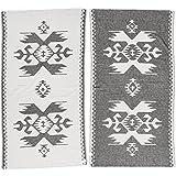 [Patrocinado]Bersuse 100% Algodón - Oaxaca Toalla Turca - Certificado OEKO-TEX - Fouta Peshtemal para Baño en la Playa - Pestemal de Diseño Etnica Mano - 100X180 cm, Negro