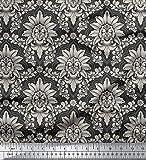 Soimoi Dekorative 44 Zoll breit Georgette Blumendamast