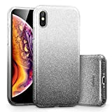ESR Coque pour iPhone Xs Max Noir, Coque Silicone Paillette Strass Brillante Bling...