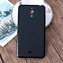 Ziaon(TM) Soft Silicone TPU Pudding Matte Finish Back Cover Case For Alcatel PIXI 4-6 9001I - Black ( For 3G Model)
