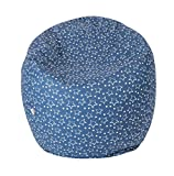Joyfill Sitzsack 90L unplattbare EPP Polypropylen Perlen mit Baumwoll-Bezug (5011 Star Blue)