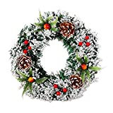 ADESHOP 80er Jahre Weihnachtsdekoration, Wandbehang Weihnachtskranz, Dekoration für Weihnachten, Party, Tür-Girlande, Ornament B