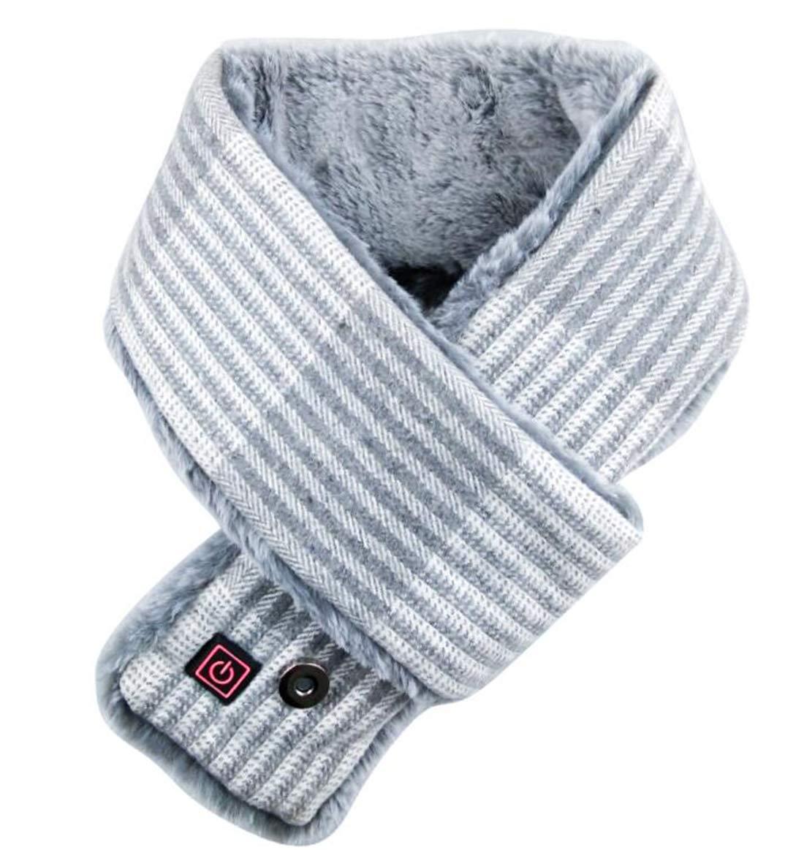 Unbne Climatizada Bufanda USB eléctrico calienta Caliente Cuello de la Bufanda del Abrigo de Invierno frío,Gris 2