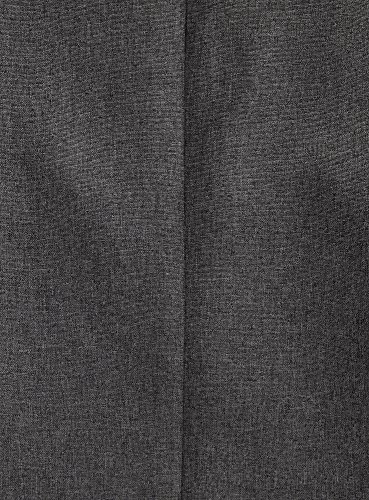 oodji Ultra Femme Basique en Tissu Épais avec Encolure en Forme de Сœur Gris (2500M)