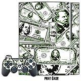 MightySkins Schutzfolie für Playstation 3 Konsole und 2 PS3-Controller Phat Cash