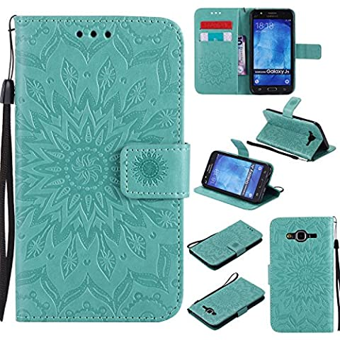 For Samsung Galaxy J5 Case [Green],Cozy Hut [Wallet Case] Magnetic