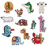 12PCS lovely Animal Appliques for Kids Bear/leone/elefante/giraffa/dinosauro toppa per artigianato jeans dell' abito da cucire su giacca zaino sciarpa cuscino applique