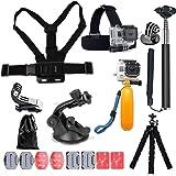 YEHOLDING 13-en-1 Accessoires pour Gopro, Kit d'accessoires pour caméra d'action Compatible avec GoPro Hero 9 8 Max 7 6 5 4 B