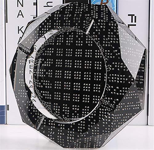 LPP Aschenbecher Deluxe Crystal Inlay Hotel KTV Clubhouse High-End-Geschenkdekoration Einzigartig dekorierte Raucherfreunde S (Crystal Zigarette Aschenbecher)
