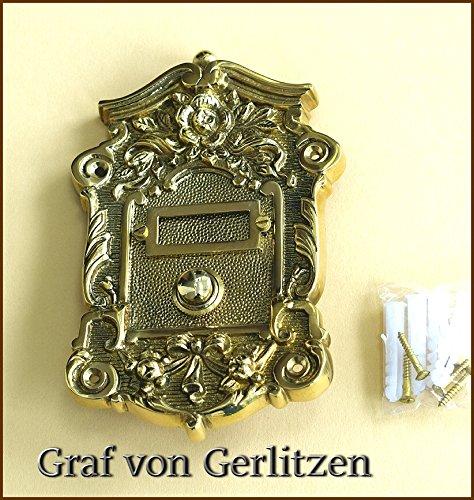 Graf von Gerlitzen Antik Messing Tür Klingel 1 Türklingel Klingelschild Klingelplatte Gründerzeit...