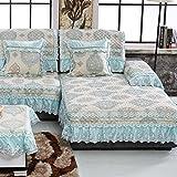 KA-ALTHEA- Europea funda de sofá tejido jacquard cojín del sofá cojín antideslizante toalla cubierta de sofá simple cuatro estaciones -El amortiguador del sofá conjuntos de sofás Funda ( Tamaño : 70*160cm )