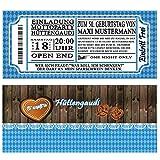 Einladungskarten zum Geburtstag Oktoberfest 30 Stück bayrisch bayrischen bayerrisch Hüttengaudi Bier Geburtstagseinladungen