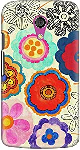 DailyObjects Charming Floral Mobile Case For Motorola Moto G2