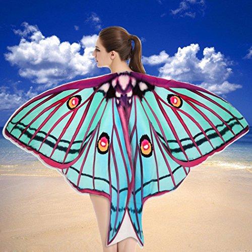 weicher Stoff Schmetterlingsflügel Schal Strand Badetücher Fee Damen Nymph Pixie Kostüm Zubehör (D) ()