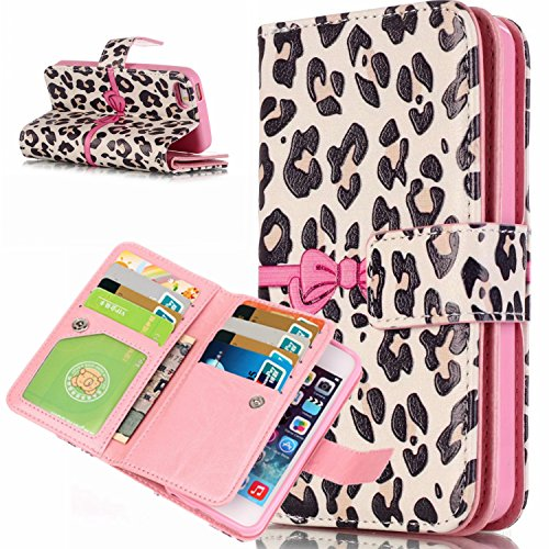 Etui Housse pour iPhone 6S Plus Coque Swag,iPhone 6S Plus Case Flip Cuir,iPhone 6S Plus PU Leather Case Wallet Cover Flip Coque,EMAXELERS Protecteur Etui Housse de Protection Étui Coque Flip PU Cuir P G Red Hearts 4