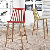 ZfgG Stuhl modernen minimalistischen industriellen Stil hohen Barhocker Barhocker Barhocker hohen Stuhl einfachen Stuhl Frühstück Barhocker (Farbe : Earth Yellow)