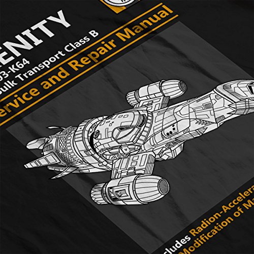 Firefly Serenity Service And Repair Manual Women's T-Shirt Black