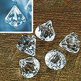 5 Kristall-Anhänger Diamant 3,1 x 3,7 cm