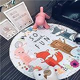 1.5m Krabbeldecke, Rutschfest Baby Spiel Aufräumsack Kinder Groß Spielzeug Aufbewahrungstasche Runden Teppich (Typ 4)