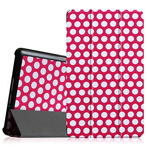 Fintie Samsung Galaxy Tab S 8.4 Hülle Case - Ultra Schlank superleicht Ständer SlimShell Cover Schutzhülle Etui Tasche mit Auto Schlaf / Wach Funktion, Polka Dot
