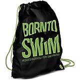 BornToSwim Unisex Kordelzug Wasserdicht Rucksack Schwimmbeutel Mit Born To Swim Hai Motive