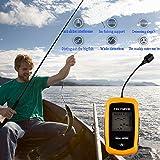 Gearmax 100M de profundidad Buscador de los pescados del LCD del sensor del sonar del transductor de alarma Fishfinder Portable