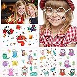 Zoo Animal tatuajes temporales (25PCS) para niños niños niñas niños, Zoo Animal falso tatuaje pegatinas para niños Suministros de fiesta de cumpleaños Favores de fiesta Bolsas de fiesta Relleno