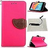 TOCASO Rosa Leder Schutzhülle für LG Nexus 5 Hülle Flip Wallet Case, Leder Hüllen Portable Handyhülle Anti-Scratch [ID Card Slot] Soft Silikon Back Tasche r Schutzhüllen für LG Nexus 5