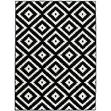 tapis de salon moderne collection marocaine couleur noir blanc motif gomtrique treillis meilleure qualit - Tapis Noir Et Blanc