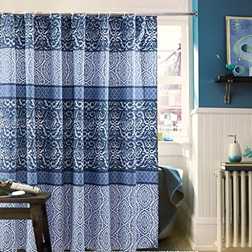Rideau de douche, épaississement de l'environnement anti-moisissure polyester imperméable à l'eau 180 * 200cm (porcelaine bleue et blanche) ( Size : 150*180cm (59*70inch) )