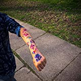 Oblique-Unique® Einhorn & Regenbogen Sticker Tattoos mit Glitzereffekt - wunderschöne, farbenfrohe Einhörner & Regenbogen als temporäre Tattoos hergestellt von Oblique-Unique