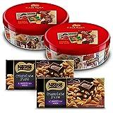Nestlé Caja Roja (Pack de 2 x 250 g) + Nestlé Chocolate Negro con Almendras (Pack de 2 x 200 g)