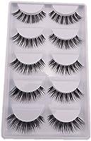 SupplyEU Natural Look Fake Eye Lash False Eyelashes Extension Makeup 5 Pairs