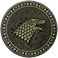 Game Of Thrones Stark Black Wolf Sigil Ned Rob Pin Badge Button Brooch Official