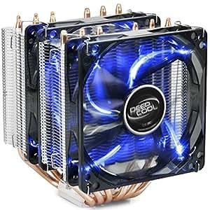 DeepCool Neptwin Ventola per CPU con 6 Coppie di Tubi di Calore e 2 Torri, Dissipatore per CPU con 2(120mm) PWM Ventole LED Blu Silenziosa(Pasta Termico Incluso)