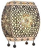 lampe de table ZOE, env. 30 cm, lumière d'ambiance, lampe en bambou