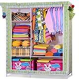 Ali armario de montaje de plástico simple armario de tela armario montado armario de la ropa de adultos