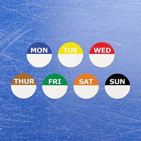 Circular Week Day Dot Food Labels