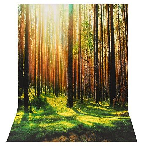 MYAMIA Sunny Forest Landschaftsbild Photography Hintergrund Seide Poster Photo Background Studio Prop-L -