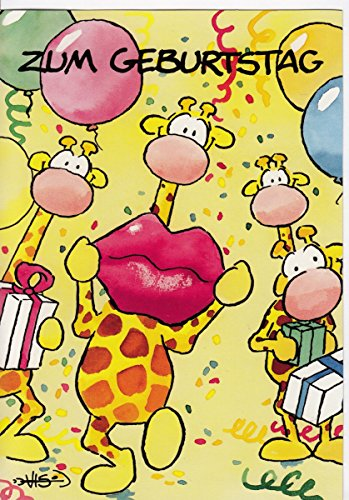 Geburtstagskarte Birthday Kiss