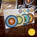 4 Bright Stem Vintage Aufbügler/Sew On Patches Auf Gewebt Aufnäher, Eichhörnchen, Gans, Vogel und Hase.