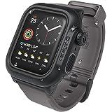 Catalyst Custodia per orologio impermeabile Apple Watch serie 4 44mm con cinturino in premium silicone resistente agli urti [