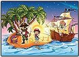Pirate carte d'anniversaire en francais Lot 12 cartes invitation Pirates fille enfant garcon fille chasse au tresor invitations
