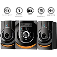 IKALL 2.1 Multimedia Speaker with Bluetooth, AUX, Pen Drive, FM Radio Connectivity and Remote Control (Black)