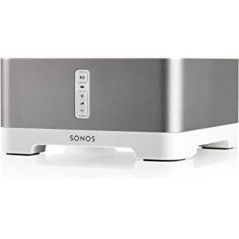 Sonos Connect: Amp Amplificatore Stereo a 2 Vie, 55 W, Argento
